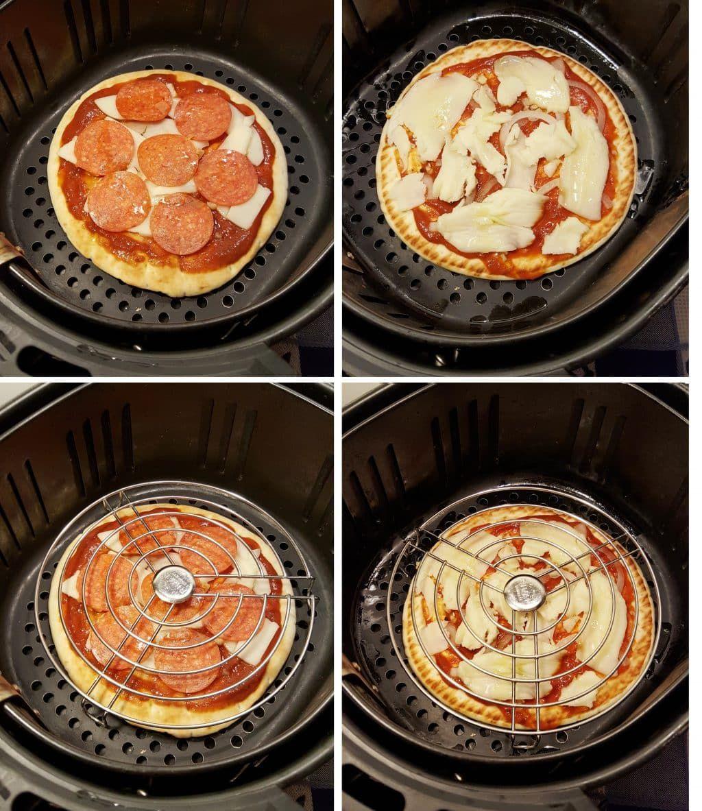 Cómo cocinar la pizza congelada en la freidora de aire 1